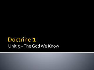 Doctrine  1