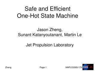 Safe and Efficient  One-Hot State Machine