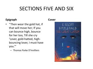 SECTIONS FIVE AND SIX