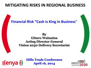 MITIGATING RISKS IN REGIONAL BUSINESS