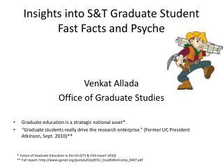Insights into S&T Graduate Student Fast Facts and Psyche