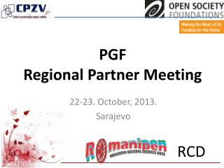 PGF  Regional Partner Meeting