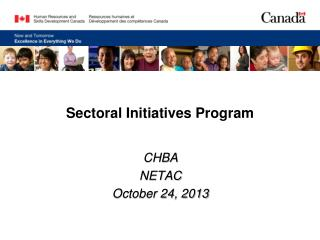 Sectoral Initiatives Program