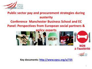 Key  documents:   epsu/a/725