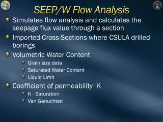 SEEP/W  Flow Analysis