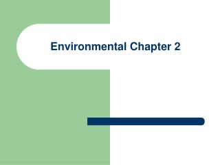 Environmental Chapter 2
