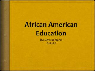 African American Education
