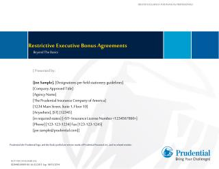 Restrictive Executive Bonus Agreements
