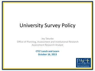 University Survey Policy