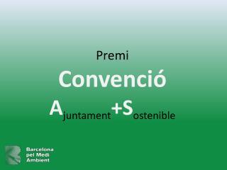 Premi  Convenci   AjuntamentSostenible
