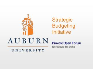 Strategic Budgeting Initiative