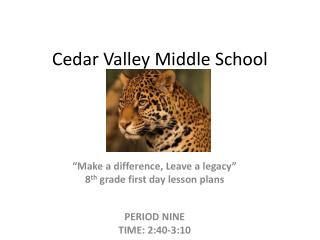 Cedar Valley Middle School