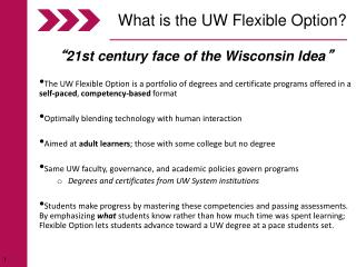 What is the UW Flexible Option?