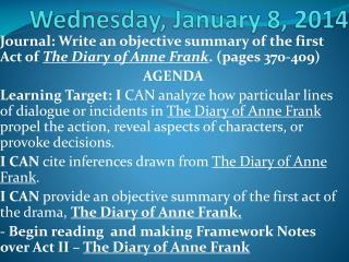 Wednesday, January 8, 2014