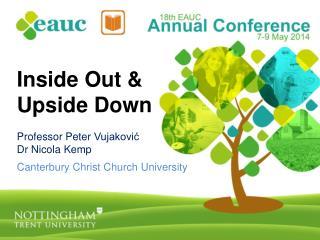 Inside Out  &  Upside Down Professor Peter  Vujaković Dr Nicola Kemp