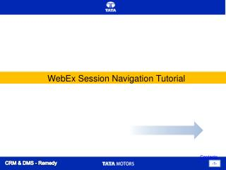 WebEx Session Navigation Tutorial