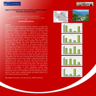 Impact of Urbanization On Some Soil Characteristics In  Ziarat  Watershed,  Golestan  Province.