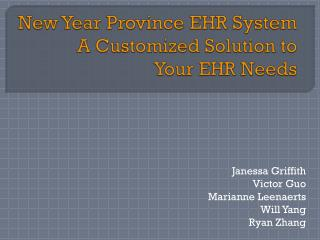 New Year Province EHR System A Customized Solution to  Your EHR Needs