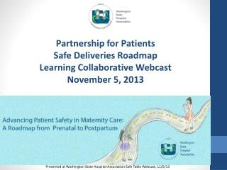 Partnership for Patients Safe Deliveries Roadmap Learning Collaborative Webcast November 5, 2013