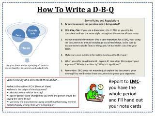 How To Write a D-B-Q