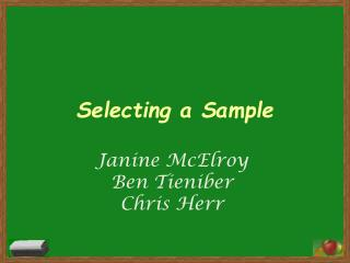 Selecting a Sample