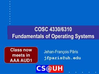 COSC 4330