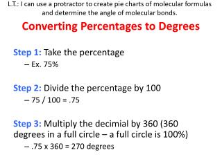 Converting Percentages to Degrees