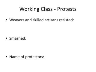 Working Class - Protests