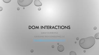 DOM Interactions