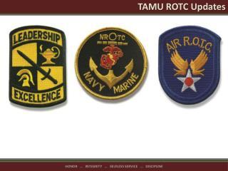 TAMU ROTC Updates