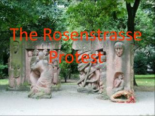 The Rosenstrasse  Protest