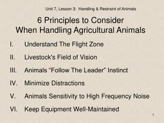 6 Principles to Consider When Handling Agricultural Animals