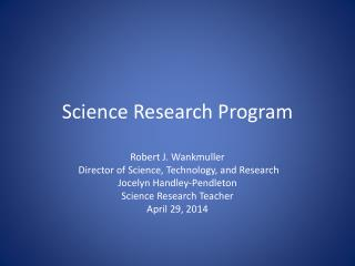 Science Research Program