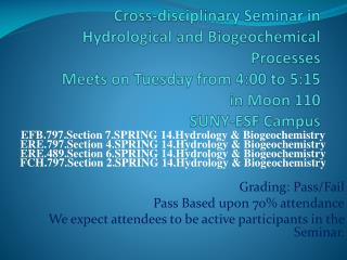 EFB.797.Section 7.SPRING 14.Hydrology & Biogeochemistry