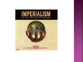 New Imperialism vs. Exploration Imperialism  15 th  -16 th  cent: