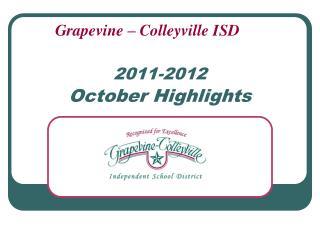 2011-2012 October Highlights