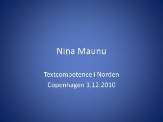 Nina Maunu