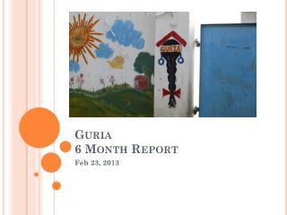 Guria 6 Month Report