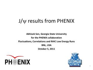 J/ y  results from PHENIX