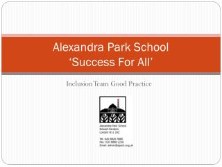 Alexandra Park School 'Success For All'