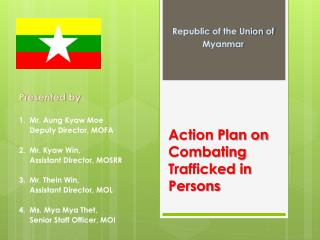 Action Plan on Combating Trafficked in Persons