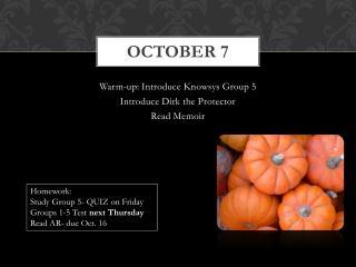 October 7