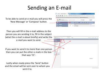 Sending an E-mail