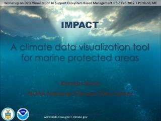 IMPACT A climate data visualization tool for marine protected areas