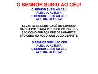 O SENHOR SUBIU AO CEU