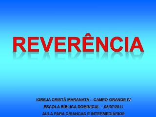 REVER�NCIA