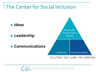 The Center for Social Inclusion