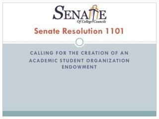 Senate  Resolution  1101