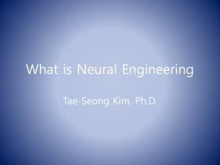 What is Neural Engineering