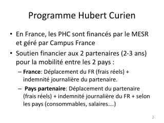 Programme Hubert Curien